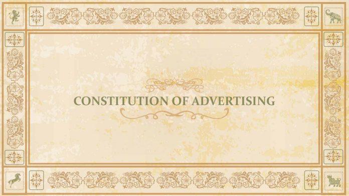 Constitution of Advertising