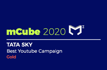 mCube 2020 TATA SKY Best Youtube Campaign Gold