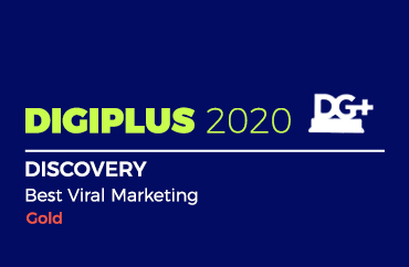 DIGIPLUS 2020 DISCOVERY Best Viral Marketing Gold
