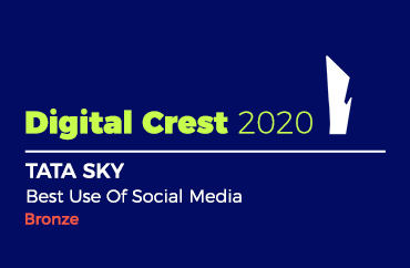 Digital Crest 2020 TATA SKY Best Use Of Social Media Bronze