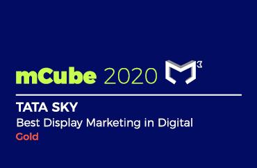 mCube 2020 TATA SKY Best Display Marketing in Digital Gold