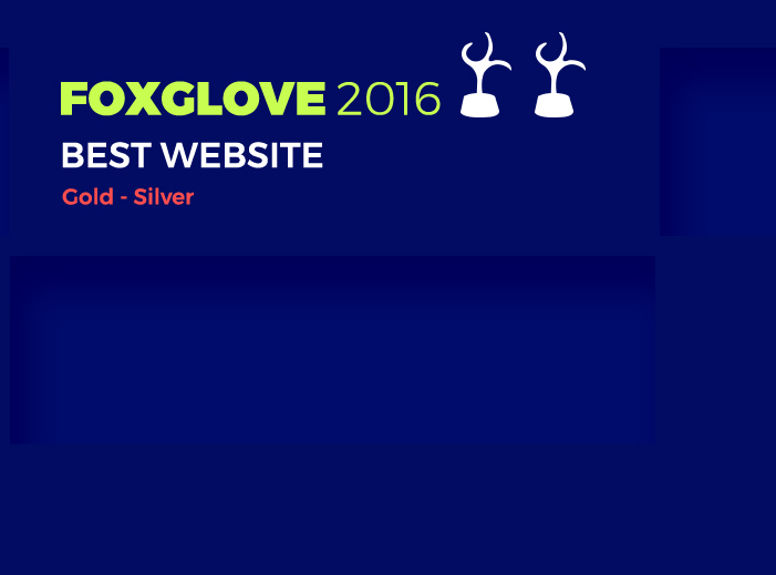 FOXGLOVE 2016 For Best Website Design